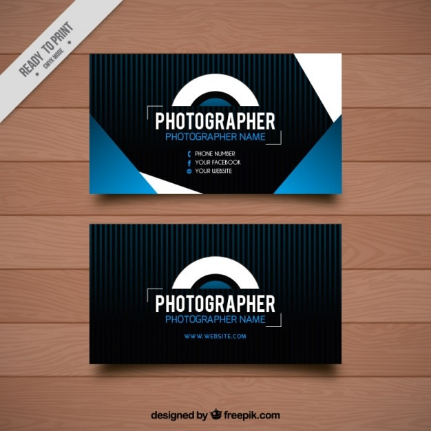 Card with geometric shapes for photography Free Vector