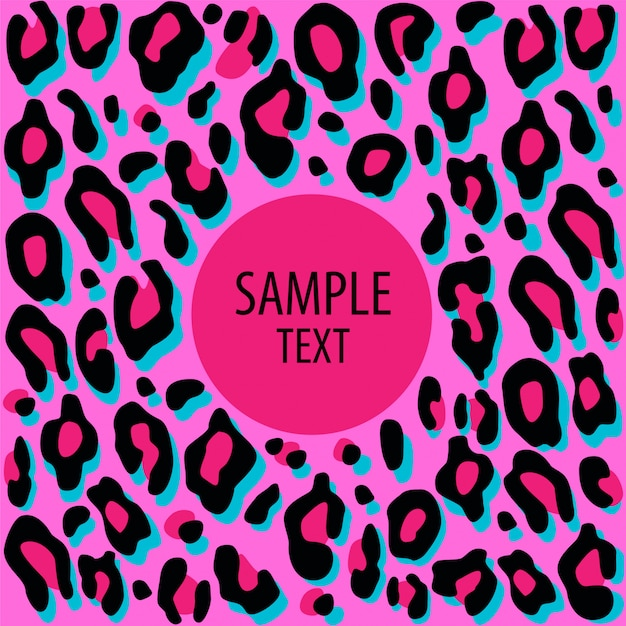 Card with leopard print. Premium Vector