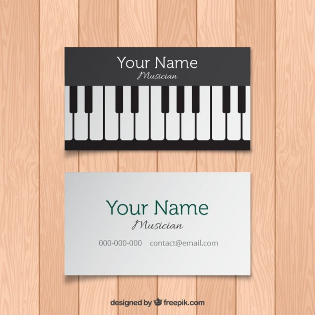 Card With Piano Keys Vector