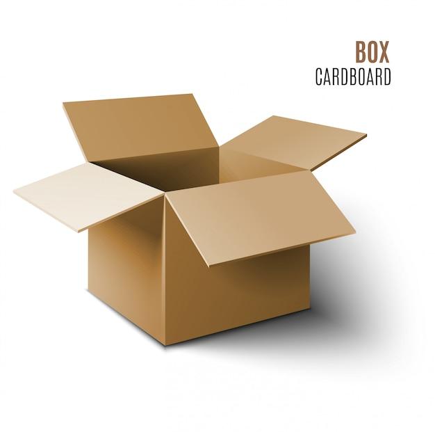 Cardboard box icon. Premium Vector
