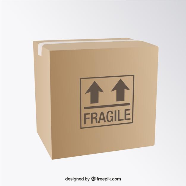 Cardboard box Free Vector