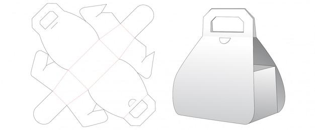 Cardboard gift box cut template design Premium Vector