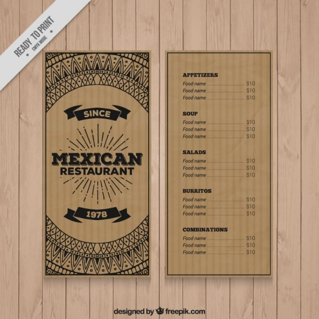 Menu Design Vectors, Photos and PSD files | Free Download