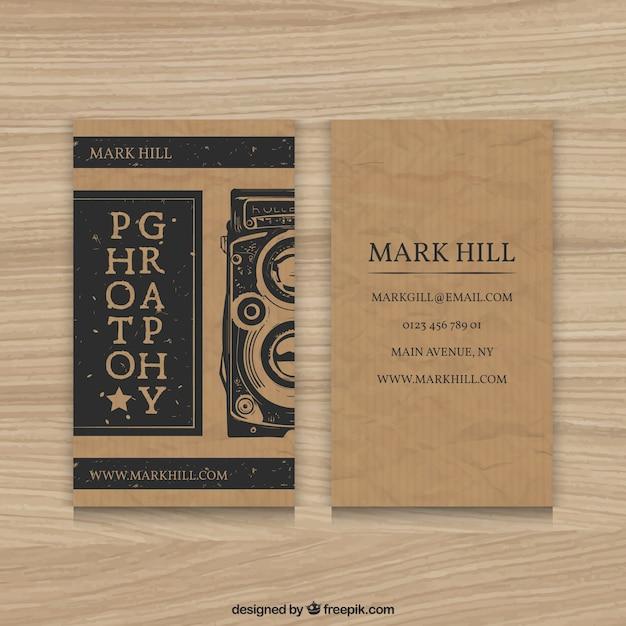 Cardboard photography business card vector free download cardboard photography business card free vector colourmoves