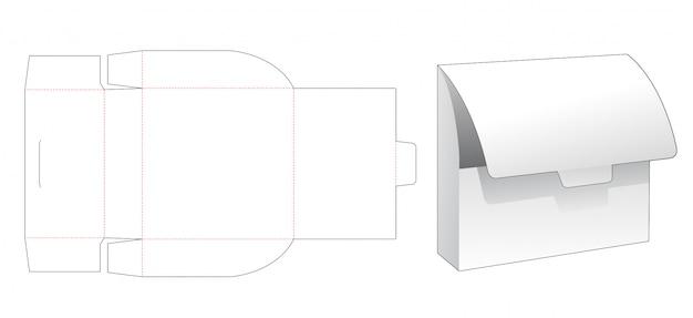 段ボール収納袋ダイカットテンプレート Premiumベクター