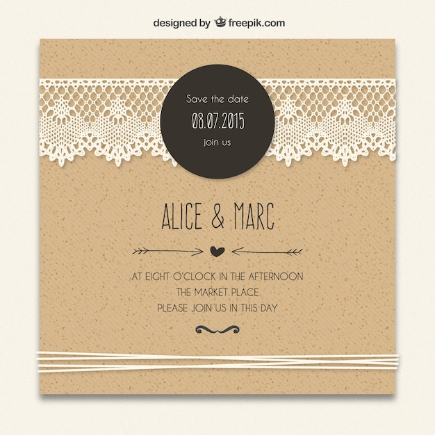 Lace Vectors Photos and PSD files – Wedding Card Design Template Free Download