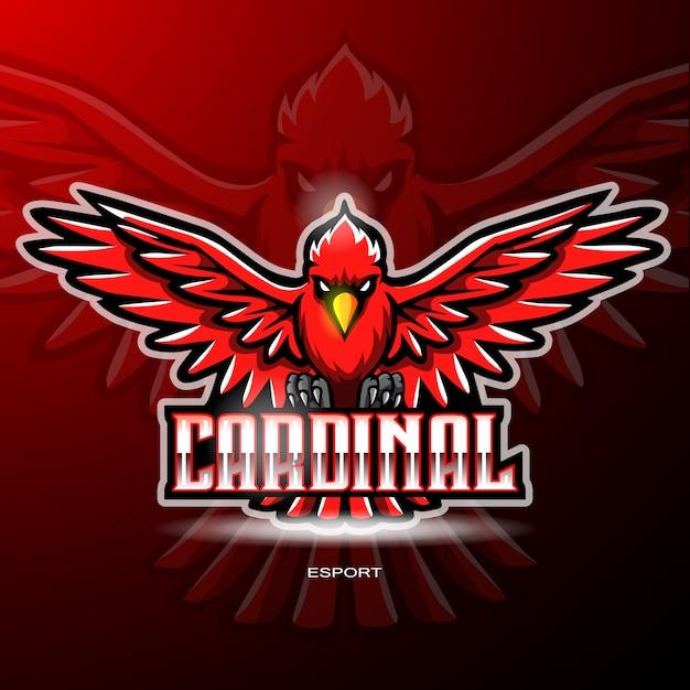 ゲームのロゴの枢機birdの鳥のマスコット Premiumベクター