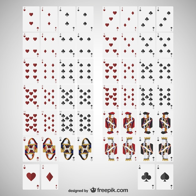 Cards deck Free Vector