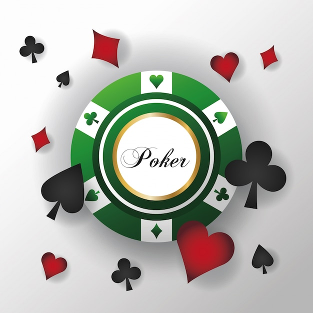 Cards Symbols And Chip Icon Poker Casino And Las Vegas Theme
