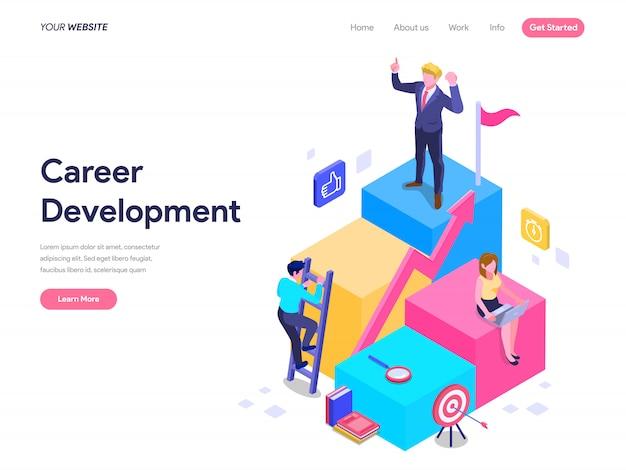 Career Development Concept For Landing Page Ui Web Homepage Banner Premium Vector