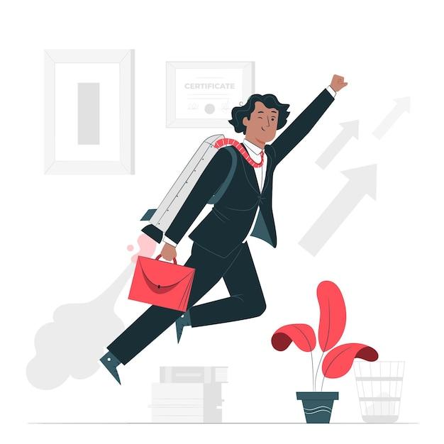 Career progress concept illustration Free Vector