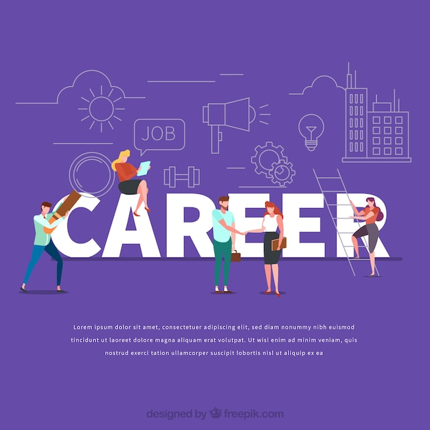 Career word concept Free Vector