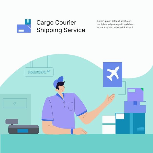 Cargo delivery customer service Vector | Premium Download
