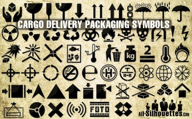 Cargo Delivery Vector Packaging Symbols Vector Free Download