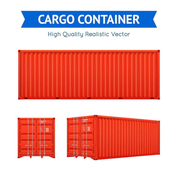 Cargo freight container Free Vector