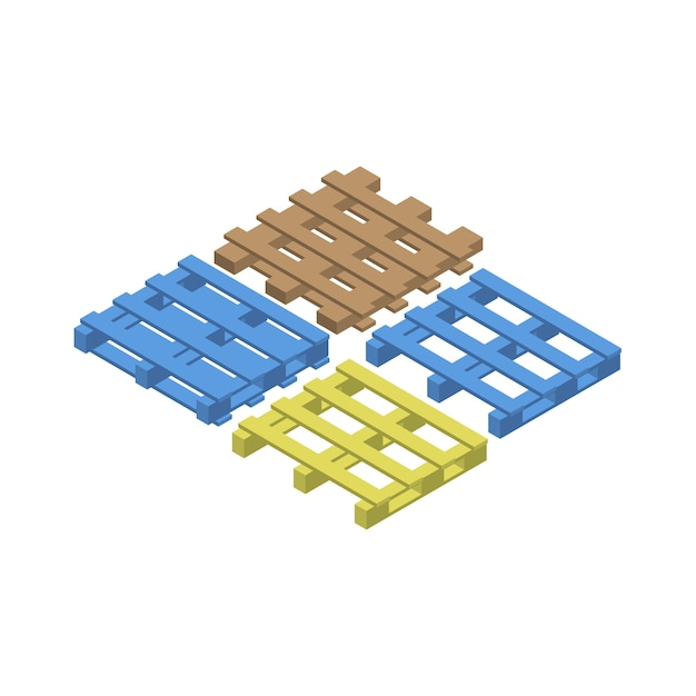 Cargo pallet isolated on background Free Vector