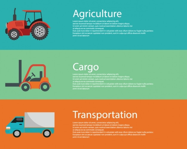 Cargo vehicles Free Vector