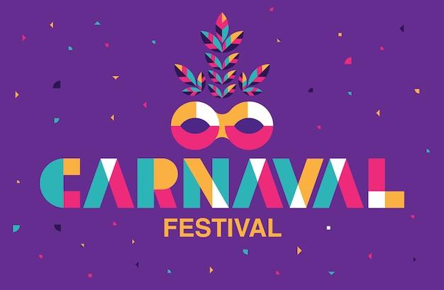 Carnaval typography, popular event in brazil. Premium Vector