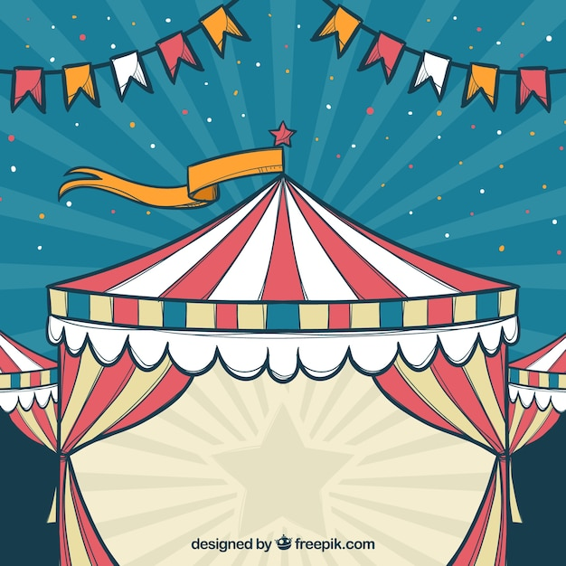 carnival background design with tent vector free download