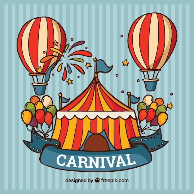 Carnival background with tent and balloons Free Vector  sc 1 st  Freepik & Carnival background with tent and balloons Vector | Free Download