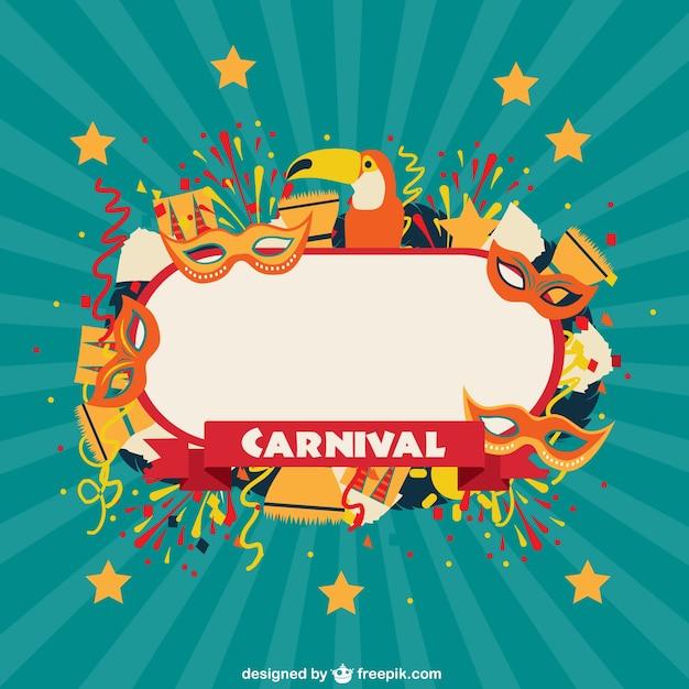 carnival celebration label vector free download