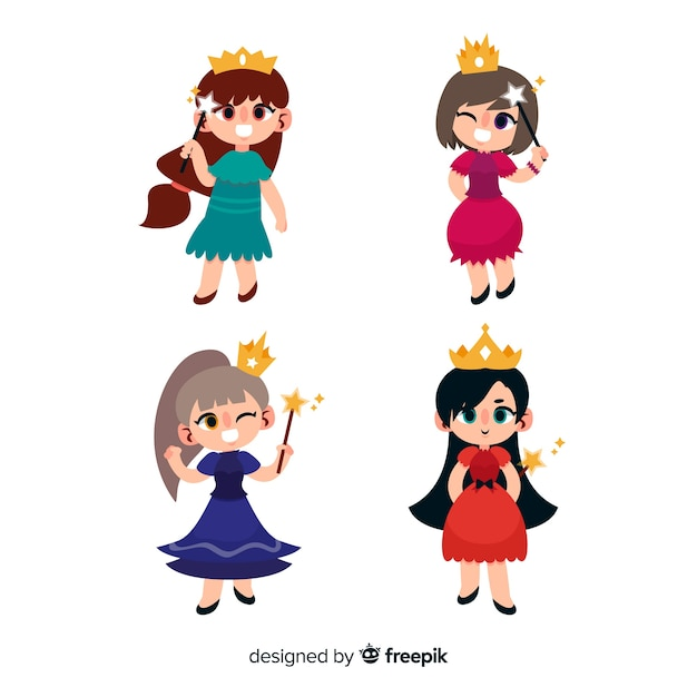 Carnival characters wearing costumes Free Vector