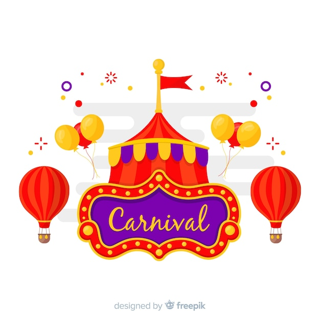 Carnival at the circus Free Vector
