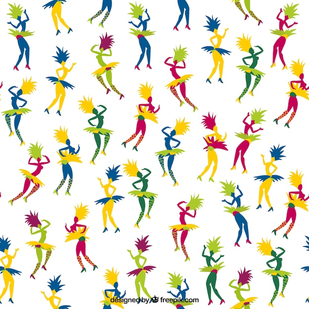 Carnival dancers pattern
