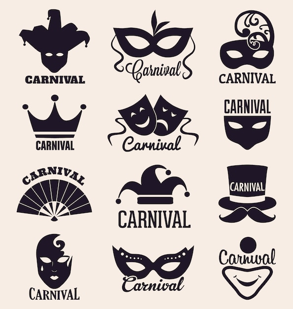 Carnival designs collection Free Vector