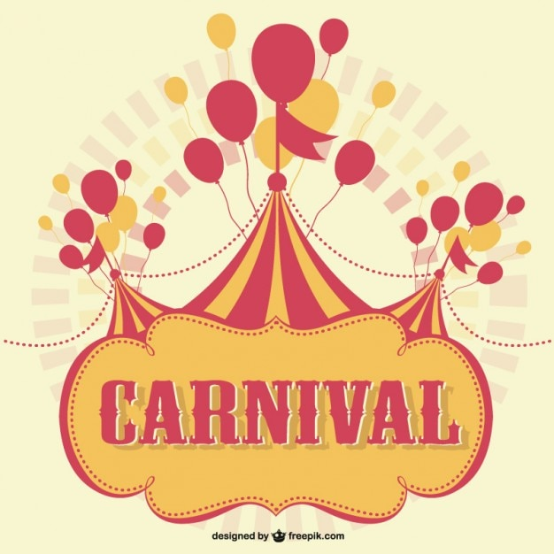 Carnival marquee with balloons background Vector | Free ...