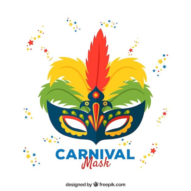 Carnival mask design Free Vector