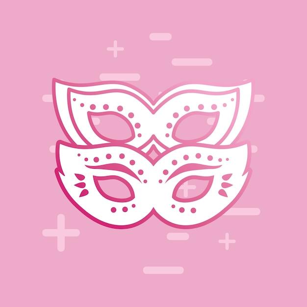 Carnival mask design Premium Vector