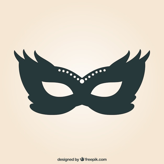 Carnival mask illustration Free Vector