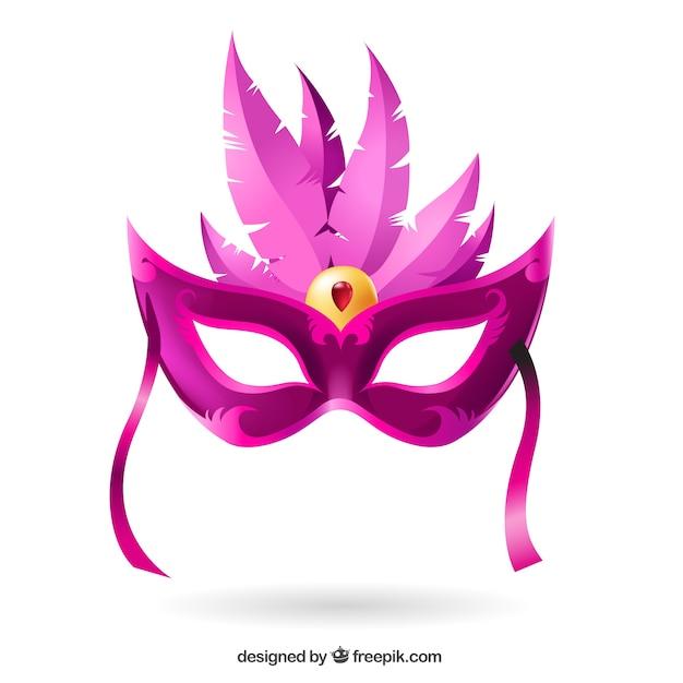 Carnival mask in pink tones vector free download - Mascaras de carnaval de venecia ...