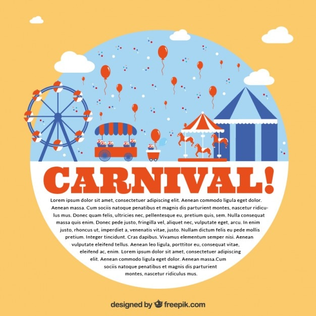 Carnival park flyer Free Vector - Carnival Park Flyer Vector Free Download