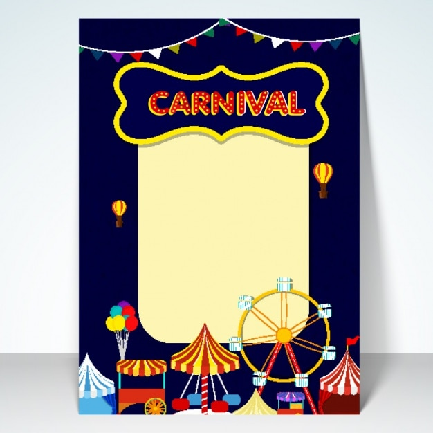 Carnival party poster design Vector | Premium Download