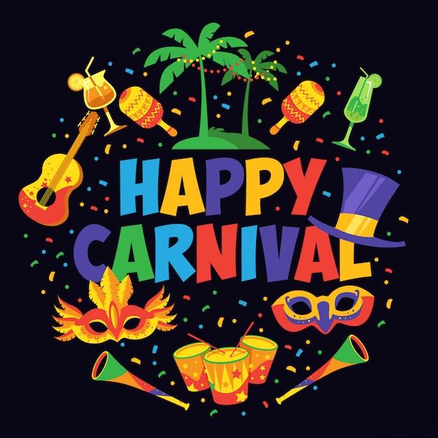 Carnival poster design Premium Vector