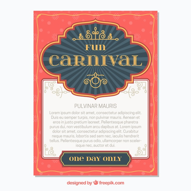carnival poster template vector free download