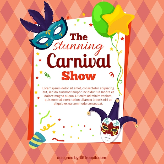 Carnival Poster Icons | Free Download