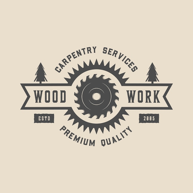 Carpentry Premium Vector