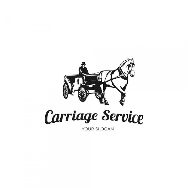 Carriage service logo Premium Vector