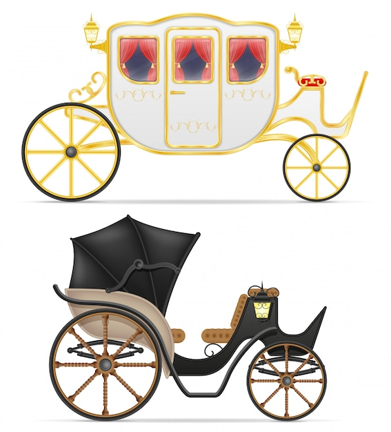 Carriage for transportation of people vector illustration Premium Vector