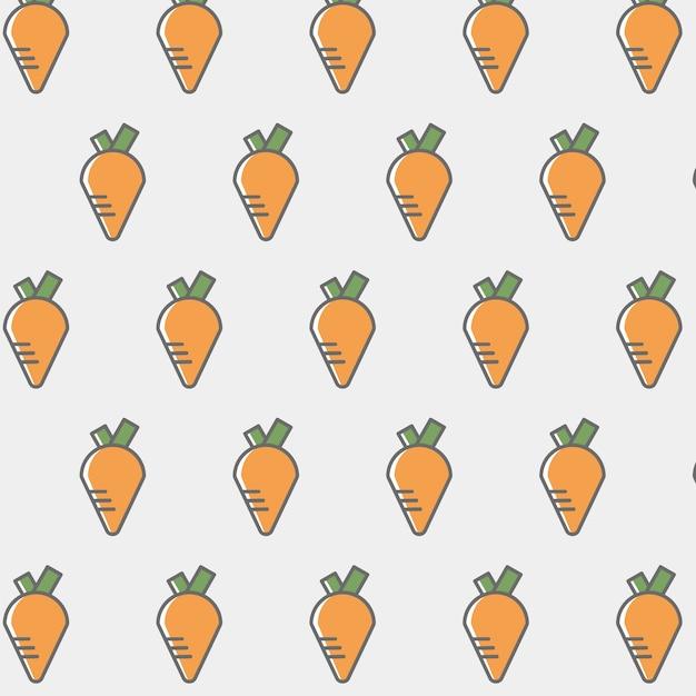 Фон с морковью Бесплатные векторы