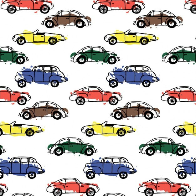 cars pattern vector free download