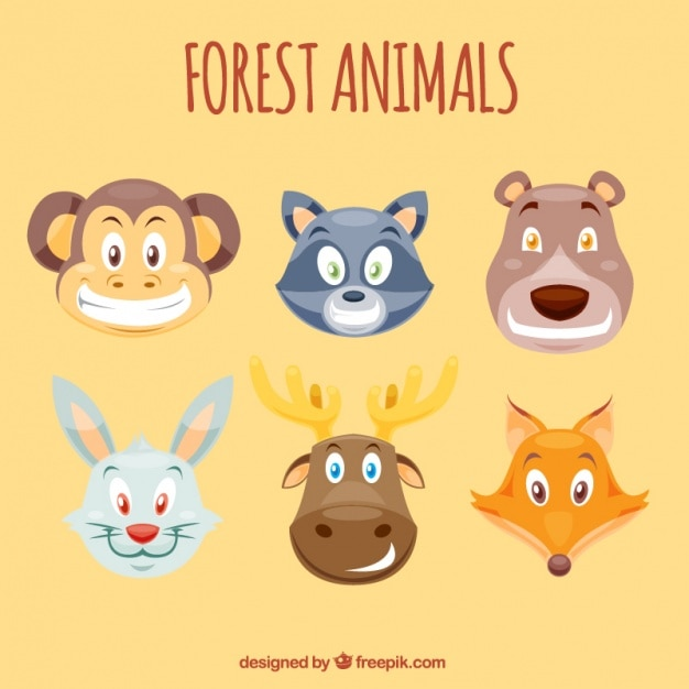 Cartoon animal avatars