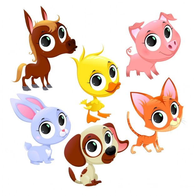 Cartoon animals Vector | Free Download