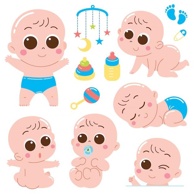 Набор символов baby baby Premium векторы