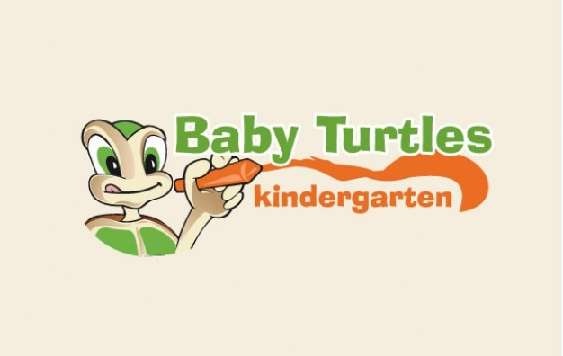 Cartoon baby Turtles drawing vector