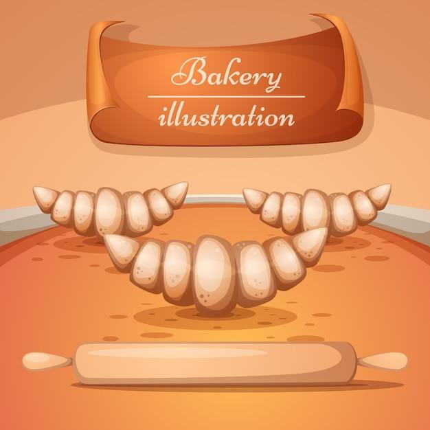Cartoon bakery illustration Premium Vector
