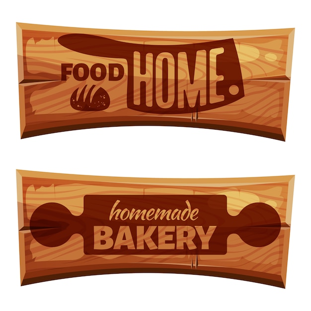 Cartoon bakery labels Premium Vector